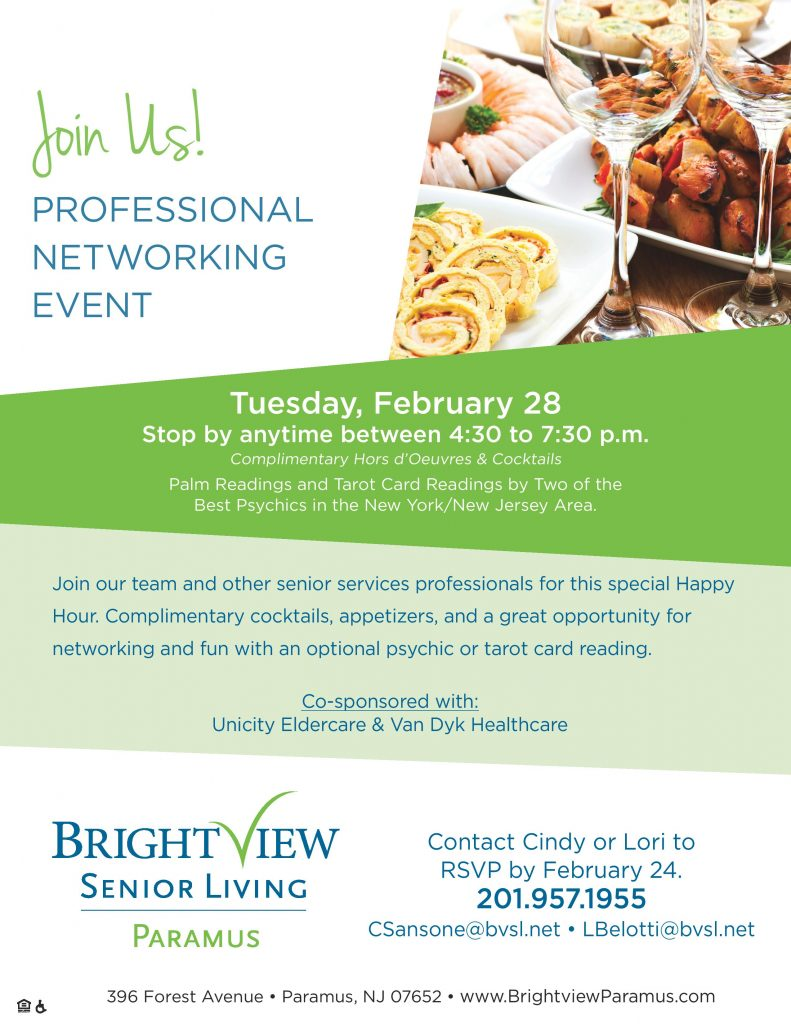 February 28th Professional Networking Event